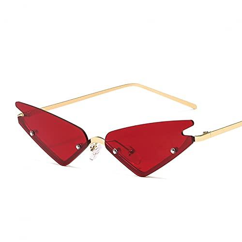 LUOXUEFEI Gafas De Sol Gafas De Sol Pequeñas Para Mujer Gafas De Sol Para Hombre Gafas Para Mujer Pequeñas Sin Montura Negro