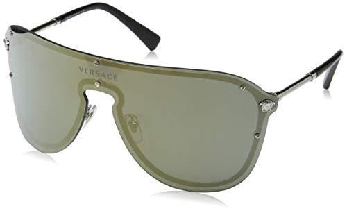 Versace 0VE2180 Gafas de sol, Silver, 45 para Mujer