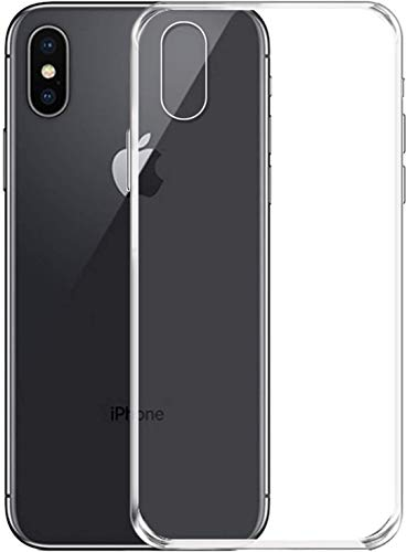 NEW'C Coque iPhone XS, Coque de Protection avec Absorption de Choc et Anti-Scratch [ULTRAT RANSPARENTE Silicone en Gel TPU Souple] pour iPhone XS