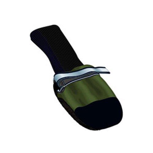 Muttluks Fleece Lined Dog Boots, Green, Set of 4 Itty Bitty