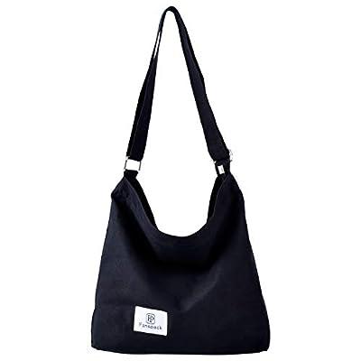 Fanspack Women's Canvas Hobo Handbags Simple Casual Top Handle Tote Bag Crossbody Shoulder Bag Shopping Work Bag