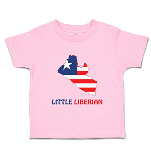 Custom Baby & Toddler T-Shirt Little Liberian Cotton Boy & Girl Clothes Funny Graphic Tee Soft Pink Design Only 7T