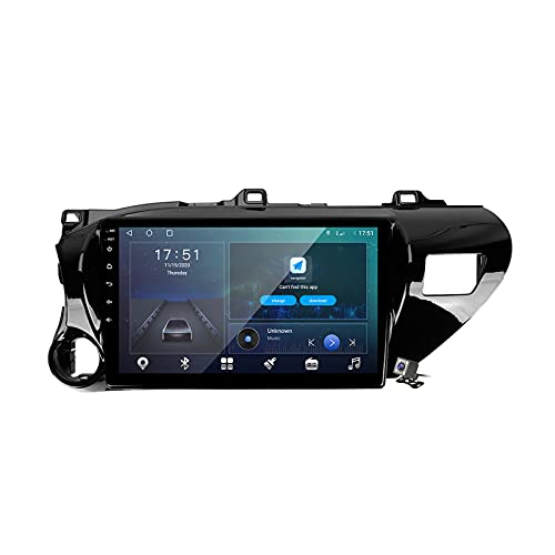 Android 10 Car Radio de Navegación GPS para Toyota Hilux AN120 2015-2020 con 9 Pulgada Pantalla Táctil Support FM Am RDS DSP/MP5 Player/BT Steering Wheel Control/Carplay,Lhd,M150
