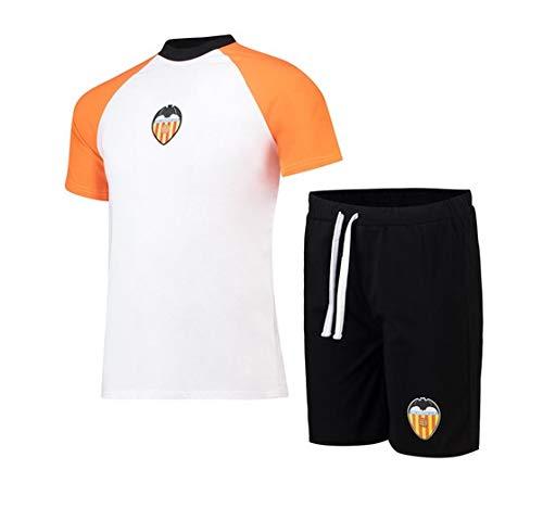 Valencia CF Pijvcf Pijama Corto, Unisex Adulto, Blanco, M