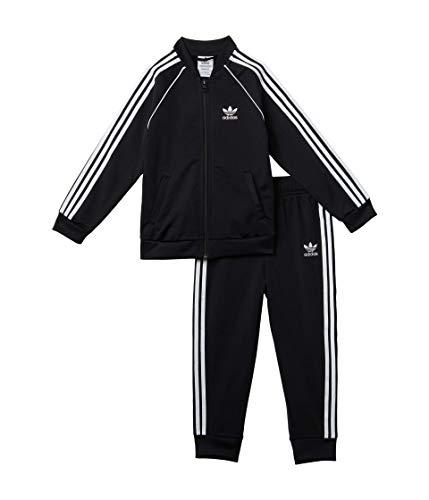 adidas Originals,unisex-baby,SST Tracksuit,Black/White,3M