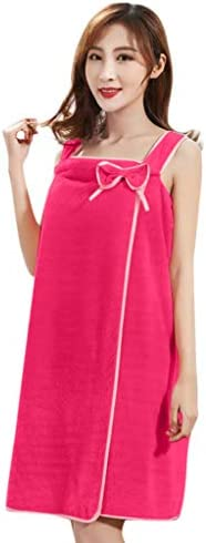 Lady Wearable Bath Towel Quick Dry Bathrobe Off Shoulder Bath Dress for Winter Shower Spa Swimming