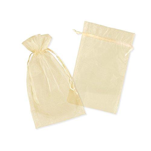 Colour-Bags Tragetaschen 50x Organzasäckchen GELB/Gold | 20 x 30 cm | Organzabeutel | Schmuckbeutel | Geschenkbeutel | Säckchen Beutel für Geschenke | Gastgeschenke | Hochzeit