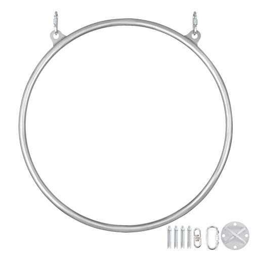Save %11 Now! Popsport Lyra Hoop Circus Aerial Equipment Yoga Hoop Single Point Aerial Ring Set (80c...