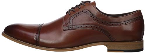 STACY ADAMS Men's Dickinson Cap Toe Oxford, Cognac, 13 W US