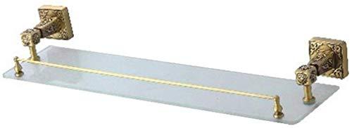 Rek voor badkamer, kantoor, scheidingswanden van glas, om op te hangen, handdoekhouder voor de keuken, kleur: goud, grootte: 52 x 13,5 cm 52*13.5cm goud.