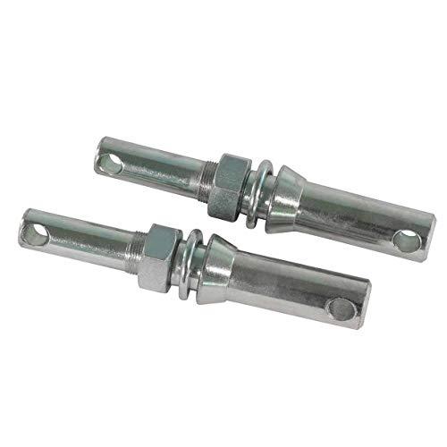 1 Paar Gerätebolzen Stufenbolzen Kat 1 + Kat 2, Unterlenkerbolzen, Unterlenkergerätebolzen, Gewindebolzen