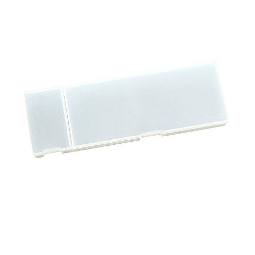 Pen Bleistift Fall, hoboyer PP Kunststoff transparent Lovely Einfache Multifunktions-Frosted Speicher Bleistift Box für Student Office Stationery Supplies Größe L (weiß)