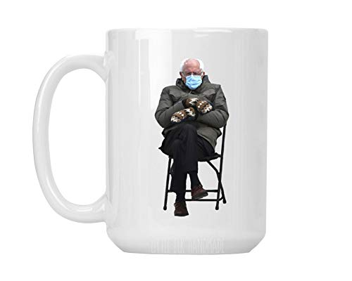 Bernie Sanders Mittens Meme - Ceramic Coffee Mug Large 15 oz White Cup