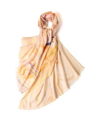 Damen Schal Wraps, Wende Mercerized weiches Tuch Cardigan Klimaanlage Shirt Druck-Muster Stolen Umschlagtücher Kopftücher Halstücher Deckenschal, Geeignet for Frühling, Sommer, Herbst, Winter