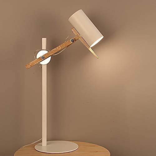 Accesorios para el hogar Moderno Creativo Simple Madera maciza Lámparas de pie de hierro forjado para sala de estarLED Madre e hijo Lámpara de pie Lámpara Cuerpo Articulación 180 ° Ajuste para ofi