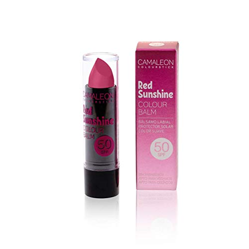 Camaleon Cosmetics, Colour Balm Color Red Sunshine,1 Unidad, 4gram