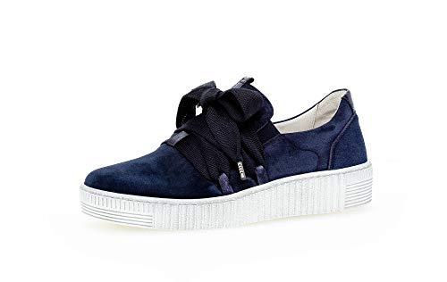 Gabor Damen Sneaker, Frauen Low-Top Sneaker,Best Fitting,Optifit- Wechselfußbett, Strassenschuhe Sportschuhe leger,Marine/Night(Weiss,41 EU / 7.5 UK