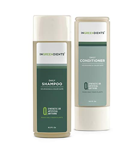 Ingreendients 100% FROM PLANTS Organic Vegan Shampoo and Conditioner For Sensitive Skin and Scalp pH...