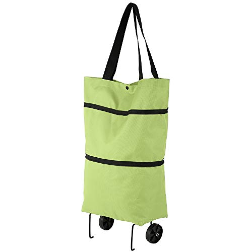 WZGGZWGG Bolsa de la compra plegable de tela reutilizables cesta de la compra en las ruedas portátil Shopper bolsa plegable de asas del ultramarinos Bolsas ( Color : TypeA Green , Size : Gratis )