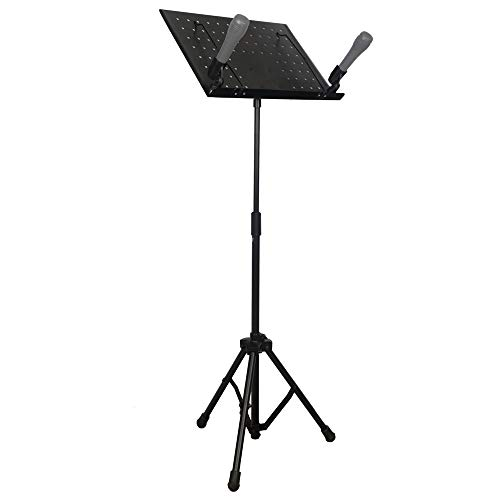 GW Adjustable Book Music Sheet Stand with 2 wireless mic holder Made in India