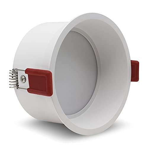 HMEILI Downlight empotrable redondo profundo de 5 W, 7 W, 12 W, 15 W, LED, ajuste para el hogar, porche, pasillo o pasillo (Color emisor: blanco natural, potencia: 5 W)