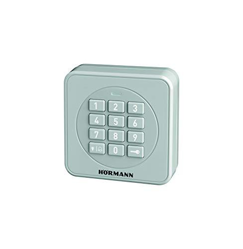 Hörmann Funk-Codetaster FCT3-1 BS (868 MHz, zur Steuerung von bis zu 3 Torantrieben, Tastatur beleuchtet, Farbe RAL 7040) 4511856, grau