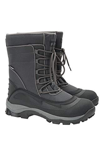 Mountain Warehouse Botas de Nieve Park para Hombre - Calzado de Invierno Repelente al Agua, con Forro Sherpa, Suela de Alta tracción - para Acampar, Caminar con frío Gris Oscuro 42