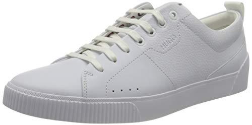 HUGO Herren Zero_Tenn_plgr Sneaker, White100, 43