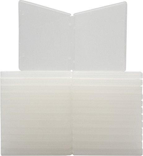 "Square Deal Recordings & Supplies (25) Clear Polypropylene 3.5"" Floppy Disk Cases - 35BR95DOCL"