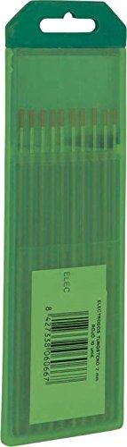 SOLTER - Electrodo Tungsteno Puro (1,0 mm), color verde