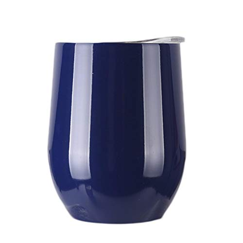 ATYBO Taza de Vino de 9 oz Taza de vacío de Acero Inoxidable de Doble Capa Taza decafé de Viaje Taza de Pareja Linda12 Colores