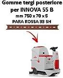 GOMMA TERGI posteriore per lavapavimenti Comac INNOVA 55 B