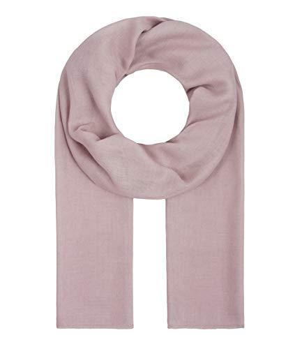 Majea Tuch Lima schmal geschnittenes Damen-Halstuch leicht uni einfarbig dünn unifarben Schal weich Sommerschal Übergangsschal, 180cm x 50cm, Mauve