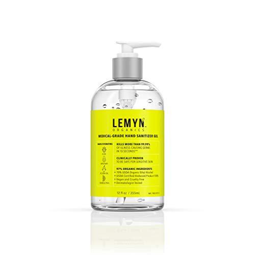 Lemyn Organics Medical Grade Hand Sanitizer Gel - 97%...