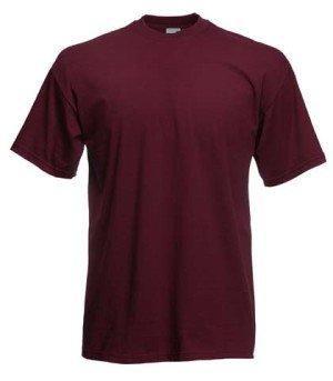 Fruit of the Loom T Shirt * Valueweight T borgogna X-Large