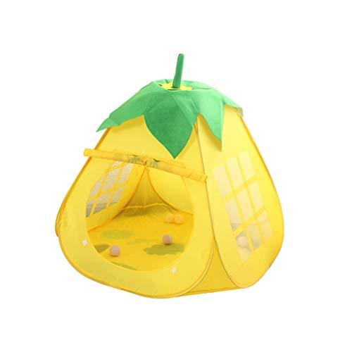 SZQ-Speeltenten Children's Cloth Tent, Fruit Shape Tent baby speelgoed opslag House Foldable Geel Groen Tent Lichtgewicht Portable Tent Kinderen spelen huis (Size : 110 * 110 * 103CM)