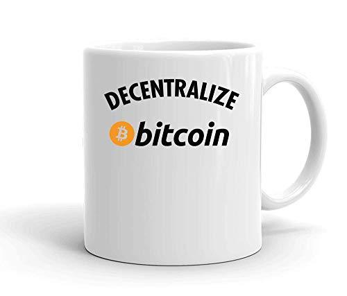 IDcommerce Decentralize Bitcoin Tasse en Céramique Blanche pour Le Thé Et Le Café