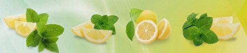 wandmotiv24 Küchenrückwand Zitronen 240 x 50cm (B x H) - Acrylglas 4mm Nischenrückwand Spritzschutz Fliesenspiegel-Ersatz M0700