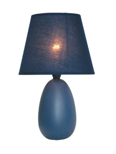 Simple Designs LT2009-BLU Mini Egg Oval Ceramic Table Lamp, Blue