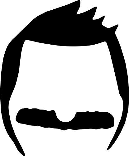 Bob's Burger Carton BOB Belcher Head Logo Vinyl Stickers Symbol 5.5' Decorative DIE Cut Decal for Cars Tablets LAPTOPS Skateboard - White Color