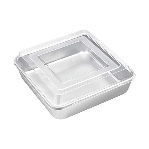 E-far 8 x 8 Inch Square Baking Pan with Lid Set