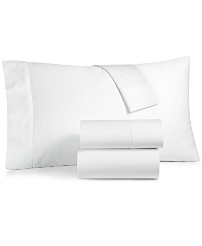 Charter Club Damask Solid 550 Thread Count Supima Cotton 4 Piece King Extra Deep Sheet Set White