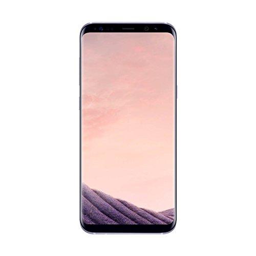 Samsung Galaxy S8 Plus - Smartphone libre de 6.2' QHD+ (4 G, Bluetooth, Octa-Core S, 64 GB memoria interna, 4 GB RAM, camara de 12 MP, Android), Gris orquídea, - [Versión española]