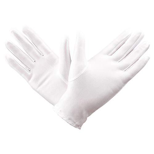 Beaupretty 3 Paires de Gants en Coton pour Les Mains Gants de Protection en Coton Gants de Nuit Lotion de Sommeil Spa pour Les Femmes Mains Sèches Eczéma Blanc