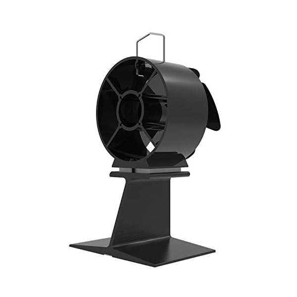 Mini Ventilador de Estufa – 4 cuchillas Operación silenciosa Ventilador de estufa de calor para leña/estufa de leña…