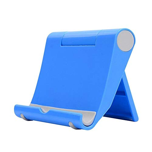 HshDUti Phone Stand, Adjustable Phone Holder Stand Dock Holder Tablet Holder Stand - Plastic Desktop Holder Stand for Phone 12 11 Pro XR X XS, Nintendo Switch, HUAWEI, Galaxy S8 S9 S10 and more Blue