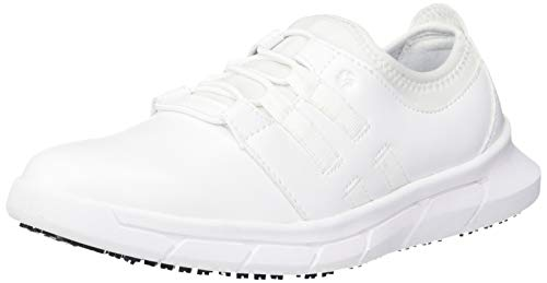Shoes for Crews Womens Karina Casual-Slip On Slip Resistant Work Shoe White,6.5