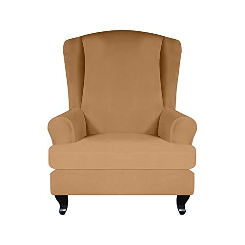 Silla de silla cubiertas de silla de reclinable, cubierta de silla de alas de la silla de alas de la silla trasera de ala todo incluido Protector de sillón elástico Sillón para casas Sofá cubiertas de