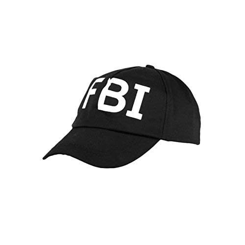 24c3e69011c Henbrandt International Black Baseball Cap FBI SWAT NCIS Security Hats  Fancy Dress