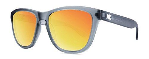 Sonnenbrillen Knockaround Premium Frosted Grey / Red Sunset polarisierten